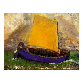 Redon - The Mysterious Boat Postcard