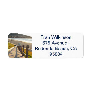 Redondo Beach California return address label