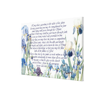 Redoute Iris Flowers Ephesians 3 Bible Print