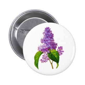 Redoute Lilacs 6 Cm Round Badge