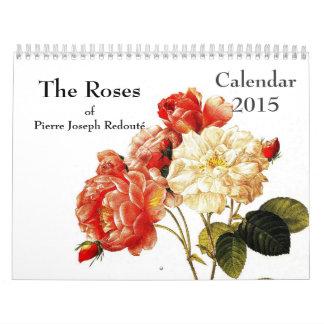 Redouté Roses 2015 Calendar