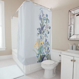Redoutes Blue Iris Flowers Floral Garden Shower Curtain