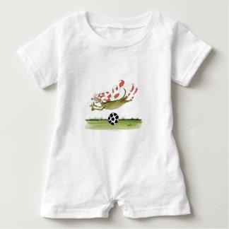 reds soccer dog baby bodysuit