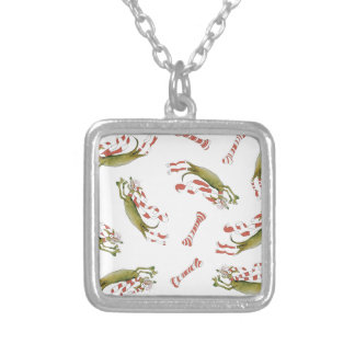 reds soccer dog bones silver plated necklace