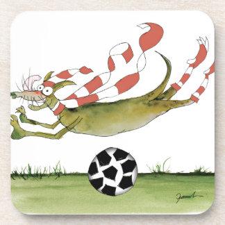 reds soccer dog coaster