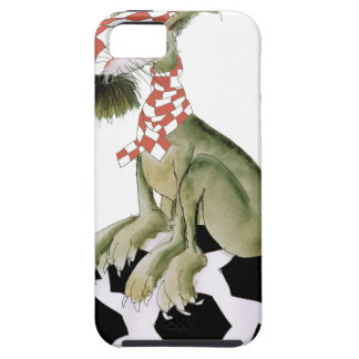 reds soccer dog happy supporter iPhone 5 case