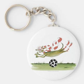 reds soccer dog key ring