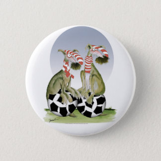 reds soccer dogs when saturday comes 6 cm round badge