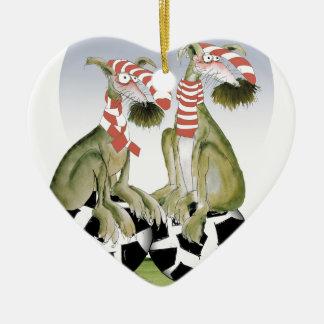 reds soccer dogs when saturday comes ceramic ornament