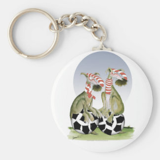 reds soccer dogs when saturday comes key ring