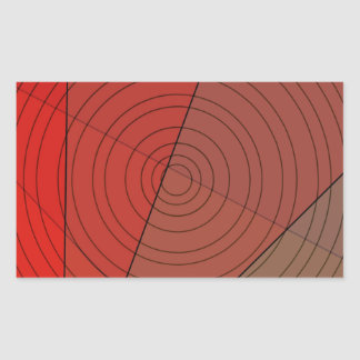 Reds Triangle Circle Design Rectangular Sticker
