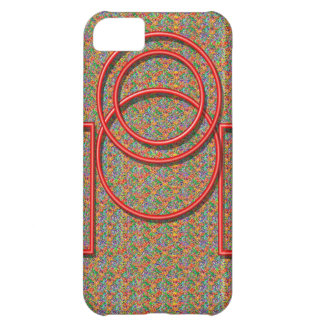 RedSquares and Circles iPhone 5C Case