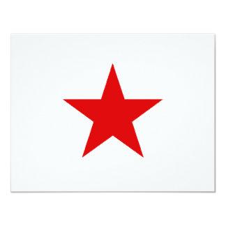 redstar 11 cm x 14 cm invitation card