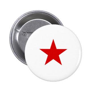 redstar 6 cm round badge