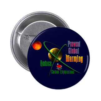 Reduce Carbon Emmissions 6 Cm Round Badge