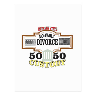 reduce divorces automatic 50 50 custody postcard