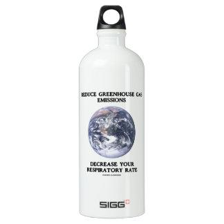Reduce Greenhouse Gas Emissions Decrease (Humor) SIGG Traveller 1.0L Water Bottle