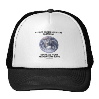 Reduce Greenhouse Gas Emissions (Humor) Trucker Hat