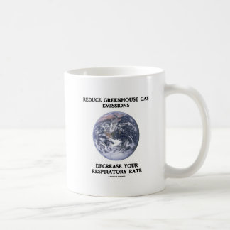 Reduce Greenhouse Gas Emissions (Humor) Mugs