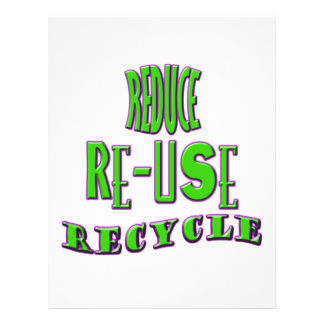 Reduce Re-Use Recycle 21.5 Cm X 28 Cm Flyer