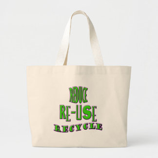Reduce Re-Use Recycle Jumbo Tote Bag