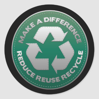 Reduce, Reuse and Recycle Stitch Round Sticker