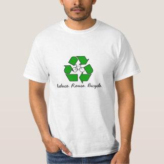 Reduce, Reuse, Bicycle. Tee Shirts