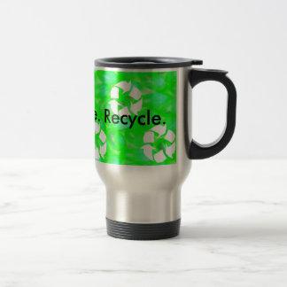 Reduce. Reuse. Recycle. (15oz.) Stainless Steel Travel Mug