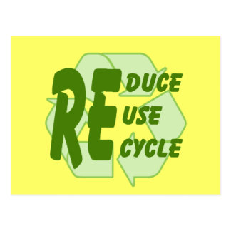 Reduce ReUse Recycle 2 Postcards