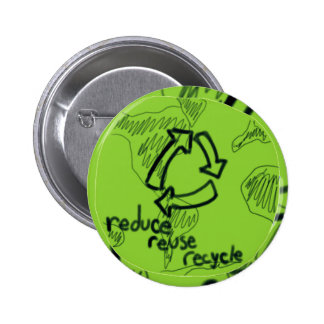 Reduce Reuse Recycle 6 Cm Round Badge