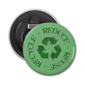 Reduce Reuse Recycle Bottle Opener