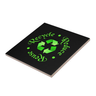 Reduce Reuse Recycle Ceramic Tile