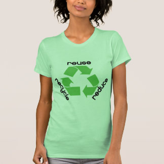 Reduce reuse recycle! Ecology design! Tee Shirts