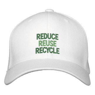 Reduce, Reuse, Recycle Embroidered Hat
