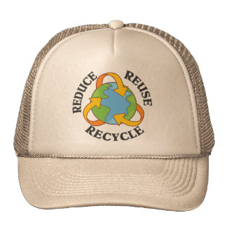 Reduce Reuse Recycle Hats