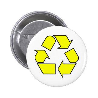 Reduce Reuse Recycle Logo Symbol Arrow 3R 6 Cm Round Badge