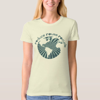 Reduce Reuse Recycle Planet Earth's Resources T-Shirt