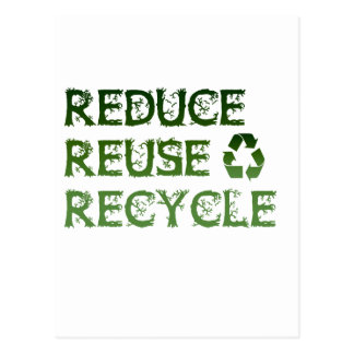 Reduce Reuse Recycle Post Cards