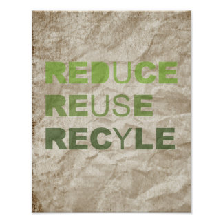 REDUCE REUSE RECYCLE PRINT