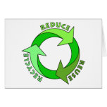 Reduce Reuse Recycle products! Card