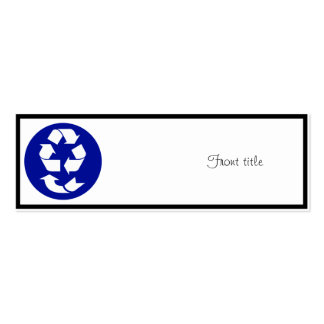 Reduce Reuse Recycle Recover Symbol (4 Rs) Pack Of Skinny Business Cards