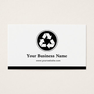 Reduce Reuse Recycle - Recycling Symbol Business Card