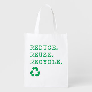 Reduce.Reuse.Recycle. Reusable Grocery Bag