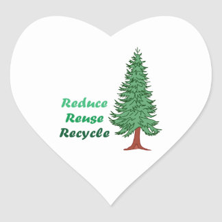 REDUCE REUSE RECYCLE HEART STICKER