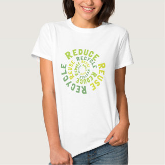 Reduce, reuse recycle t-shirts