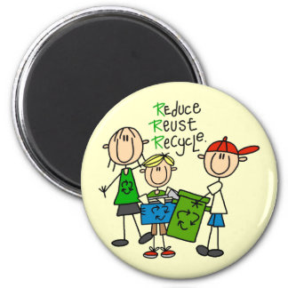 Reduce, Reuse, Recycle t-shirts and Gifts 6 Cm Round Magnet