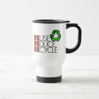 Reduce Reuse Recycle Travel Mug