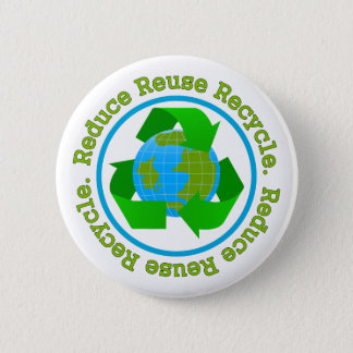 Reduce Reuse Recycle v2 6 Cm Round Badge