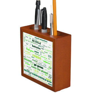 Reduce, Reuse, Recycle Word Cloud Desk Organiser