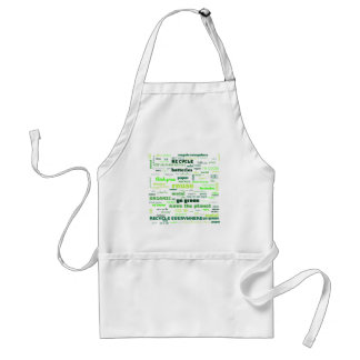 Reduce, Reuse, Recycle Word Cloud Standard Apron